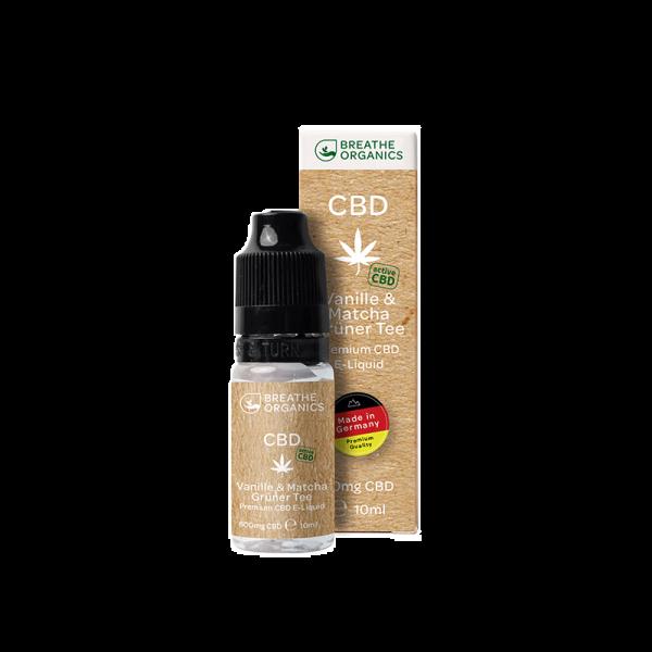 Breathe Organics - CBD Liquid Vanille & Matcha Grüner Tee