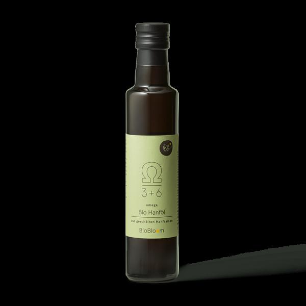 BioBloom Bio Hanföl aus geschälten Hanfsamen omega 250 ml