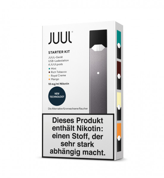 JUUL Starter Kit, 18 mg/ml, 4-Pack
